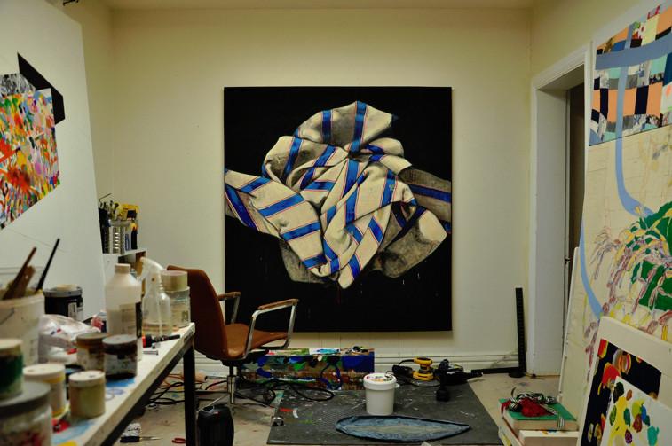 Benoit Blondeau, art contemporain, Vue d'atelier, Québec, 2014